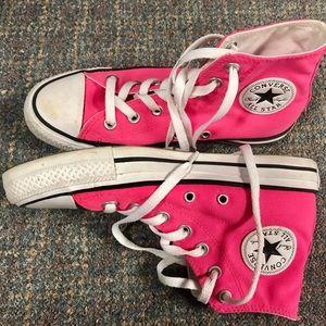 Pink High Top Converse sz. 7